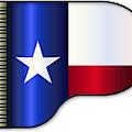 Grand Piano Texas Flag by Bigalbaloo Stock