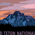 Grand Teton National Park Sunset Poster by Dan Sproul