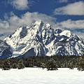 Grand Teton Peak In Winter by TL Mair
