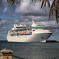 Grandeur Of The Seas Docked At St. Croix by Bill Swartwout Photography