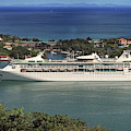 Grandeur Of The Seas In Castries, St. Lucia by Bill Swartwout Photography