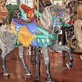 Gray Carousel Stander Horse by Kristia Adams
