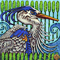 Great Blue Heron by Amy E Fraser