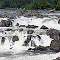 Great Falls Of The Potomac Viewed From The Virginia Side by William Kuta