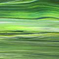 Green Abstract Meditative Brush Strokes IIi by Irina Sztukowski