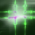 Green Aluminum Sparkling Surface. Metallic Geometric Abstract Fashion Background. by Rudy Bagozzi