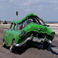 Green Car With A Twist by Les Palenik