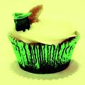 Green Cupcake by Toula Mavridou-Messer