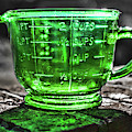 Green Measuring Cup by Sharon Popek