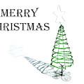 Green Tree - Merry Christmas by Helen Northcott
