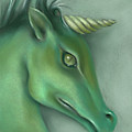 Green Water Horse Unicorn by MM Anderson