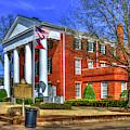 Greene County Court House Historic Winter Court House Art by Reid Callaway