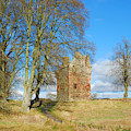 Greenknowe Tower In Late Winter Sun Scottish Borders by Victor Lord Denovan