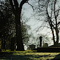 Greyfriars Churchyard In Winters Sun by Victor Lord Denovan