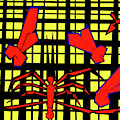 Gridismjr 8 Spiders Web by Artist Dot