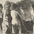 Group Of Bathers by Camille Pissarro