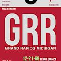Grr Grand Rapids Luggage Tag II by Naxart Studio