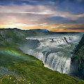 Gullfoss Waterfall by Anthony Dezenzio