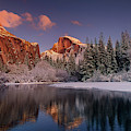 Half Dome Merced River Winter Yosemite National Park California by Dave Welling