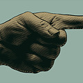Halftone Pointing Finger. Engraved by Jumpingsack