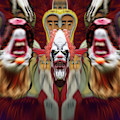 Halloween Scary Clown Heads Mirrored by Thomas Woolworth