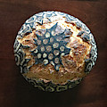 Hand Painted Sourdough Seed Pods 7 by Amy E Fraser