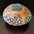 Hand Painted Sourdough Seed Pods 8 by Amy E Fraser
