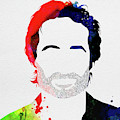 Hank Moody Watercolor by Naxart Studio
