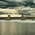 Hanover Street Bridge Panorama Goldtone by Bill Swartwout Photography