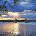 Hanover Street Bridge Sunset by Bill Swartwout Photography