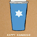 Hanukkah Blue Cup- Art By Linda Woods by Linda Woods
