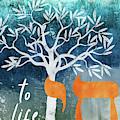 Hanukkah Tree Of Life- Art By Linda Woods by Linda Woods