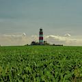 Happisburgh Lighthouse On The Horizon by Scott Lyons