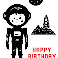 Happy Birthday Astronaut  by Toula Mavridou-Messer