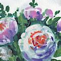 Happy Bouquet Floral Impressionism  by Irina Sztukowski