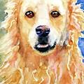 Happy Golden Retriever by Carlin Blahnik CarlinArtWatercolor