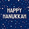 Happy Hanukkah Starry Night- Art By Linda Woods by Linda Woods