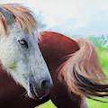 Happy Horses - Painting by Ericamaxine Price