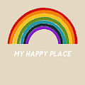 Happy Place Rainbow- Art By Linda Woods by Linda Woods