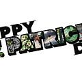 Happy St. Patrick's Day Big Letter by Colleen Cornelius
