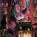 Happy Steam Punk Witch by Martin Davey
