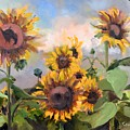 Happy Sunflower Faces by Donna Tuten