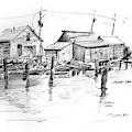 Harbor Shacks by P Anthony Visco