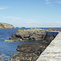 harbour wall and cliffs at St. Abbs, Berwickshire by Victor Lord Denovan