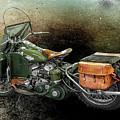 Harley Davidson 1942 Experimental Army by Barbara McMahon