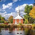 Harrisville, New Hampshire Church by Harriet Feagin