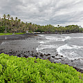 Hawaii Black Sand Beach by Jim West