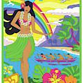 Hawaii Poster - Pop Art - Travel by Jim Zahniser