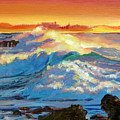 Hawaii Surf by David Lloyd Glover