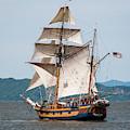 Hawaiian Chieftain Under Sail by Robert Potts